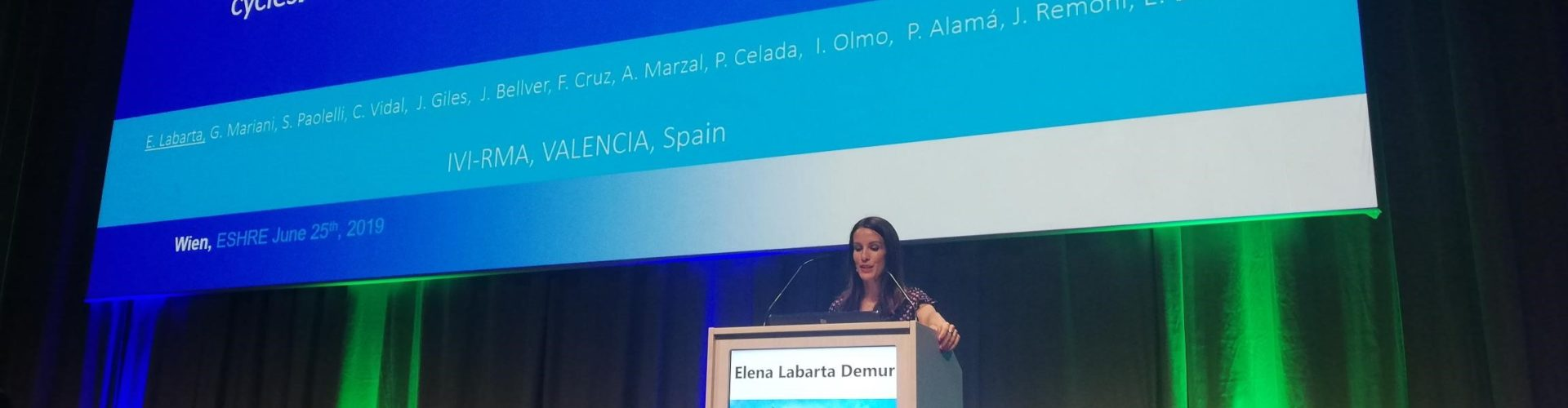 Elena Labarta at ESHRE 2019