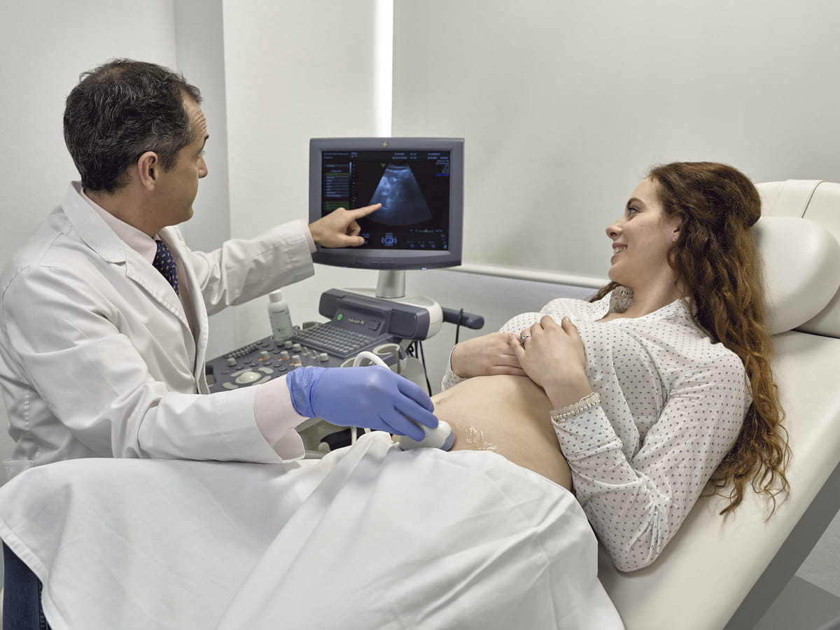 Gynaecological examination and ultrasound