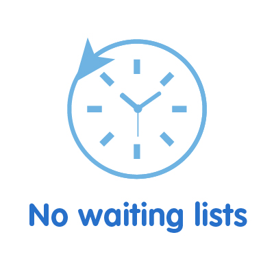 no waiting lists